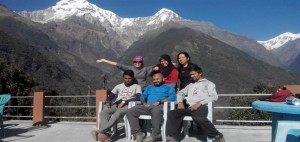 abc trekking in Nepal with CST